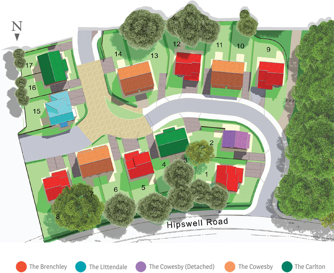 Hipswell Croft Site Map